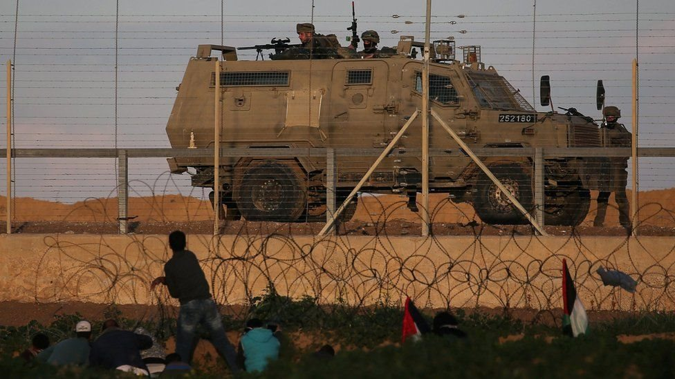 نشرت إسرائيل جنودًا على جبهتها أثناء التظاهرات