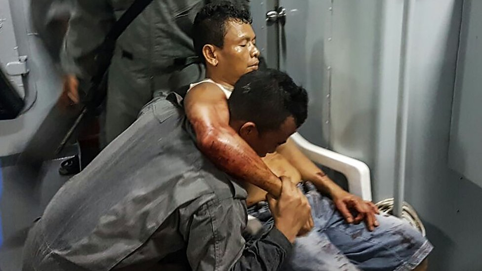One crew member was shot and wounded in one of Abu Sayyaf's latest attacks on a ship in off the coast of Malaysia