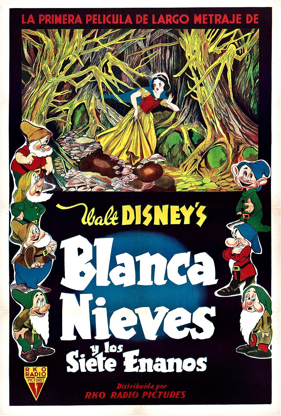 Afiche de Blancanieves en español