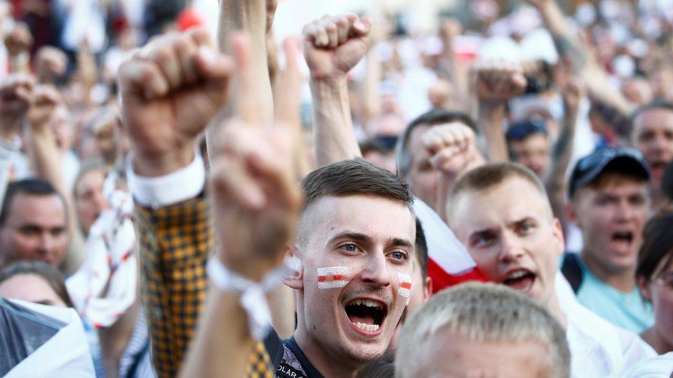 Protesta en Bielorrusia
