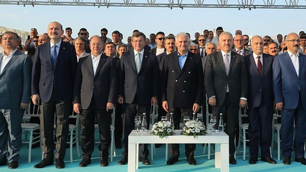 Eski Başbakanlar Davutoğlu ve Yıldırım ile İçişleri Bakanı Soylu