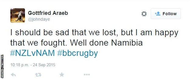 Namibia fan