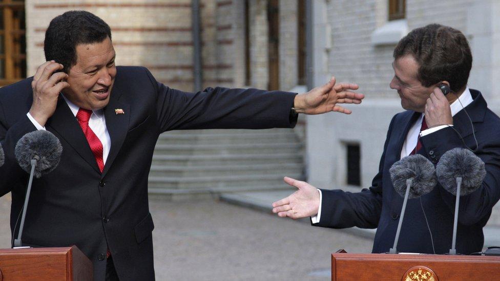 Chávez y Medvédev en 2009.