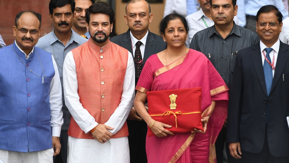 Nirmala Sitharaman India Finance Minister Ditches Colonial Budget Briefcase Bbc News