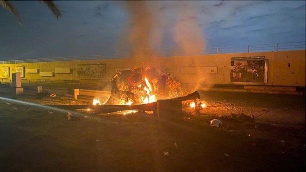 قاسم سليماني قتل في غارة بطائرة بدون طيار