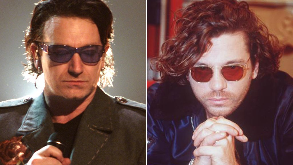 Bono and Michael Hutchence