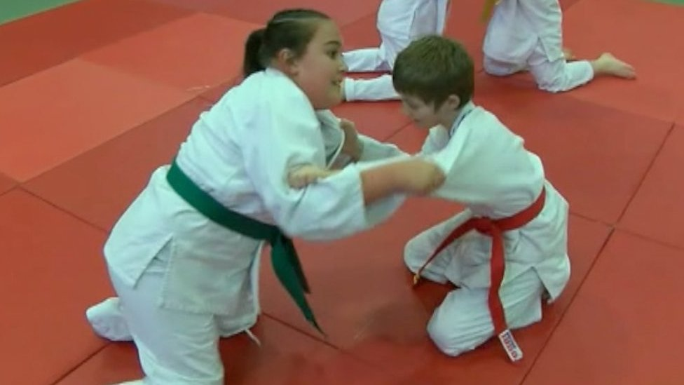 Isabelle, 12, is a disability judo champion