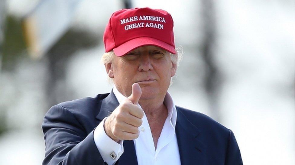 Donald Trump in a MAGA cap