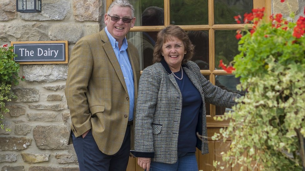 Diane Howarth and her husband Andrew
