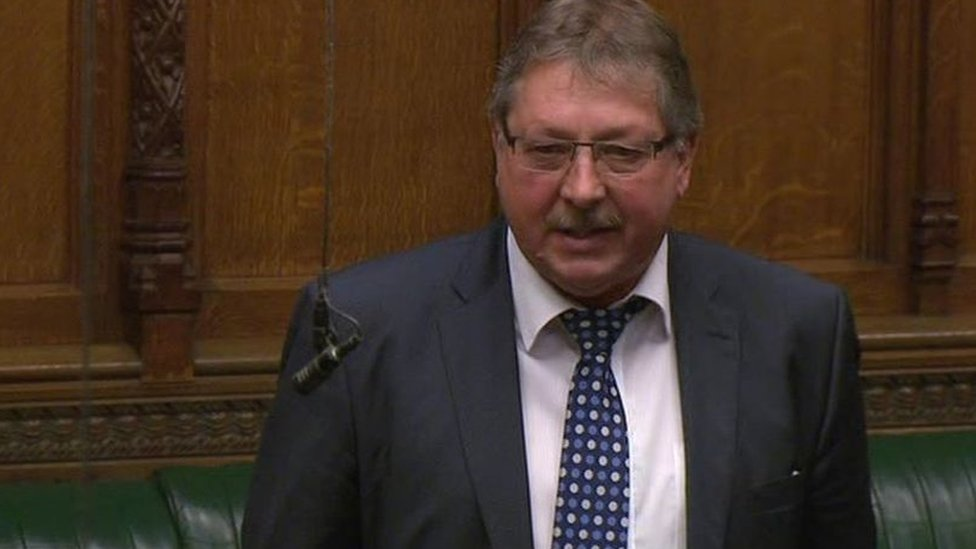 Sammy Wilson speaking in the House of Commons