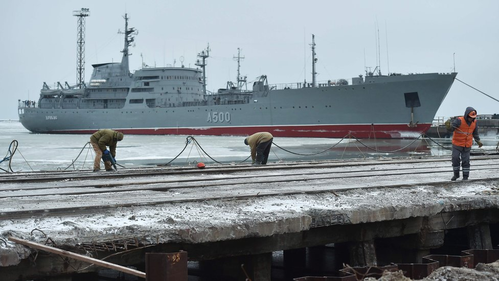 Russia-Ukraine sea clash leaves Mariupol port deserted