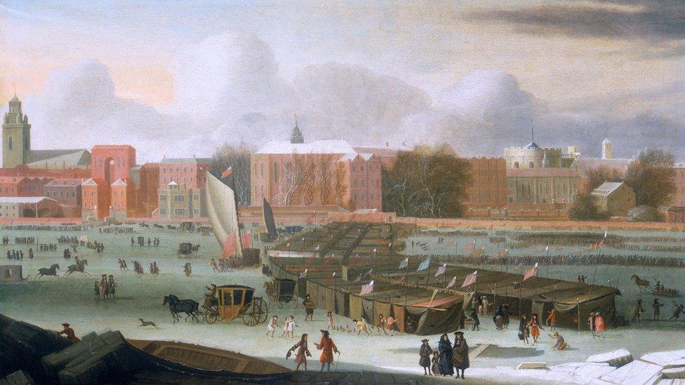 Ilustración de Londres de cerca de 1684. NO USAR / BBC
