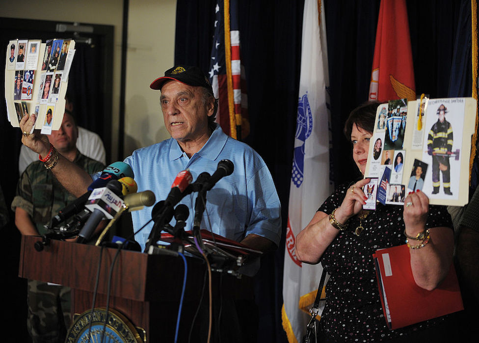 Familiares de las víctimas del 11 de septiembre.