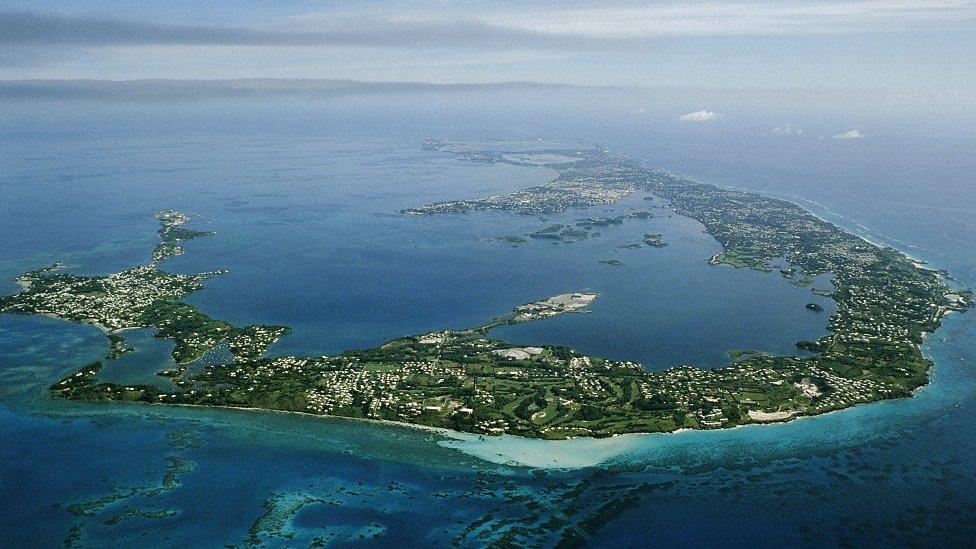 Vista aérea de las Bermudas.