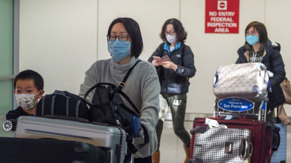 Passengers entering US from China when restrictions were announced