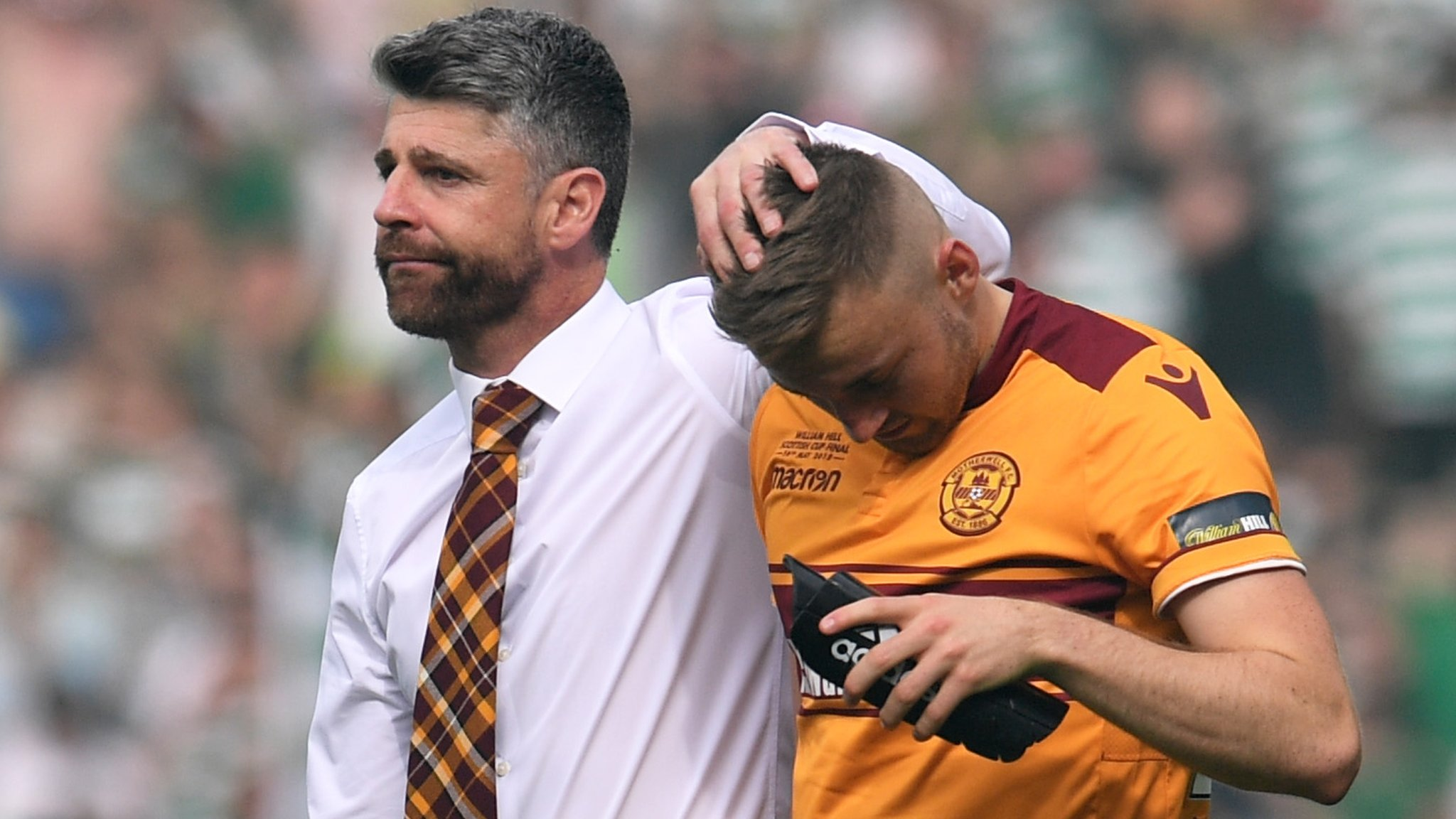 Celtic 2-0 Motherwell: Manager Stephen Robinson reflects on 'terrific' 'Well season