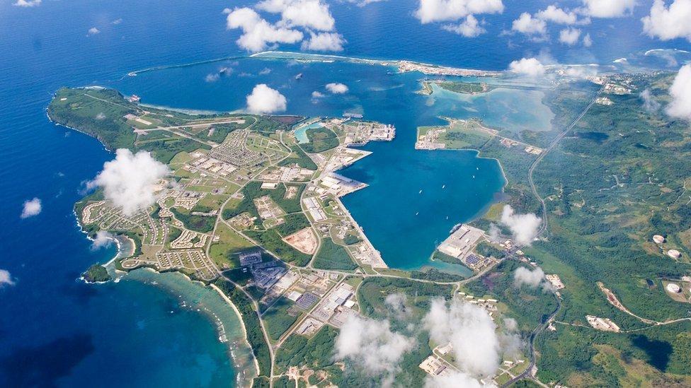 Aerial view of Guam
