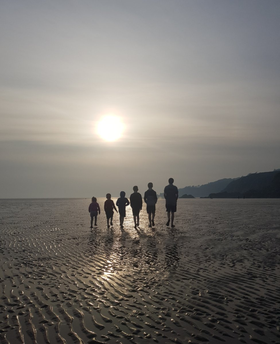 This is the Creighton family on a weekend away to Auchenlarie beach in Dumfries and Galloway