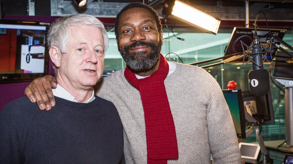 Richard Curtis with fellow Comic Relief co-founder Lenny Henry