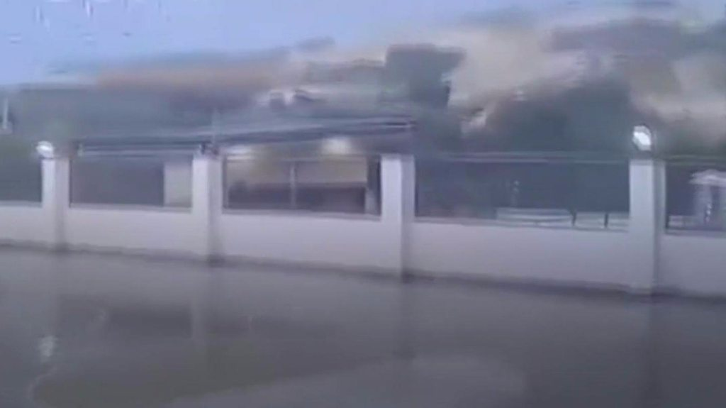 CCTV shows hillside collapse in Philippines landslide