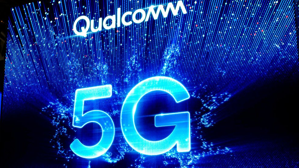 Logo de Qualcomm con 5G