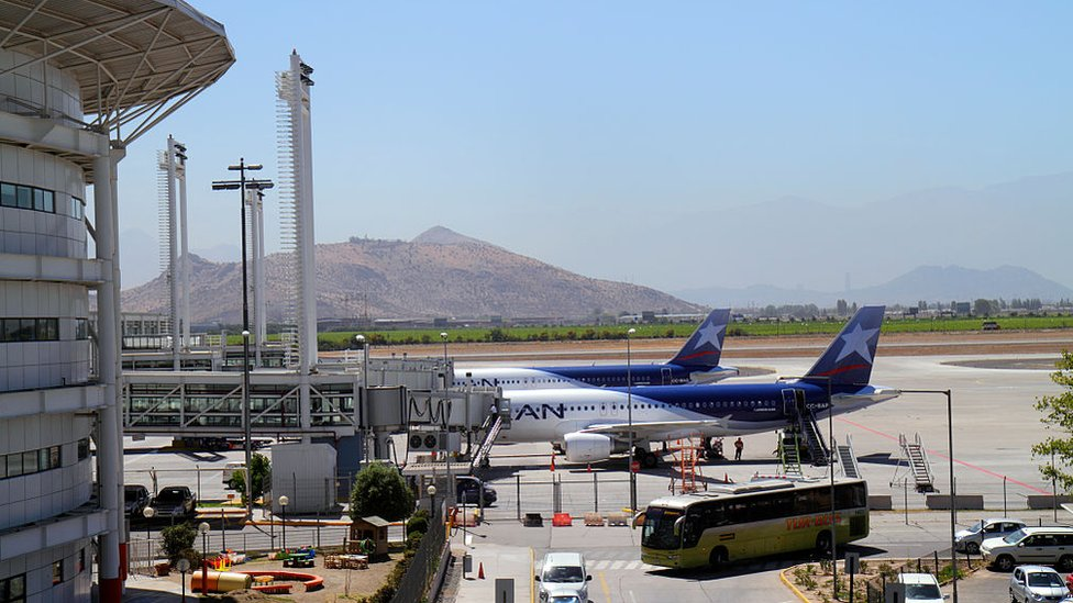 Aeropuerto de Santiago en 2012.