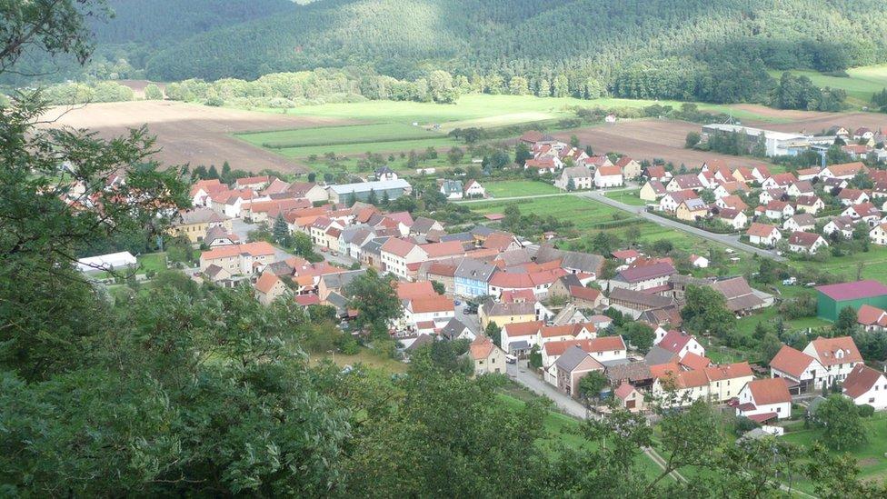 Vista aérea de la zona donde se encuentra el búnker de Vivos en Alemania.