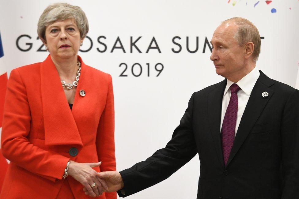 Tereza Mej i Vladimir Putin