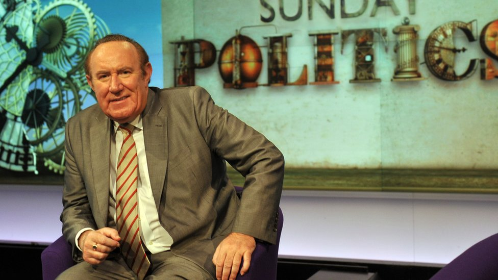 Andrew Neil on the set of Sunday Politics