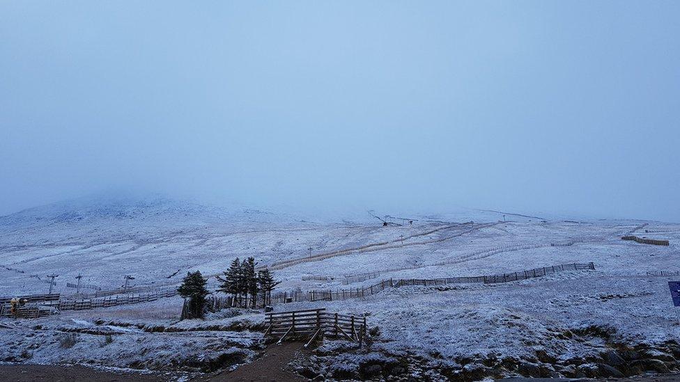 Snow at Nevis Range