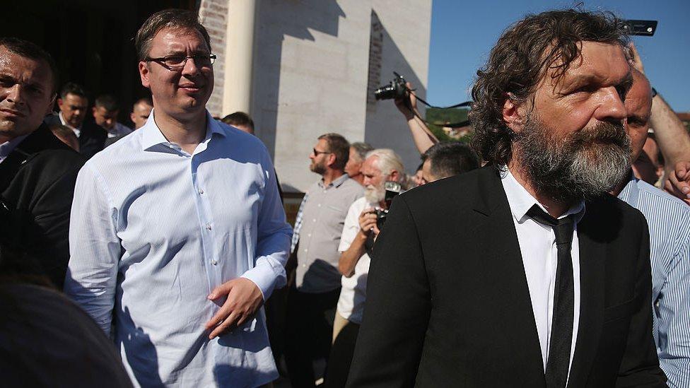 Predsednik Srbije Aleksandar Vučić i reditelj Emir Kusturica u Andrićgradu u Višegradu