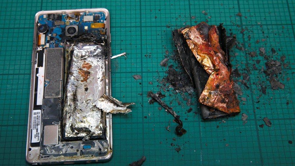 Samsung battery fire