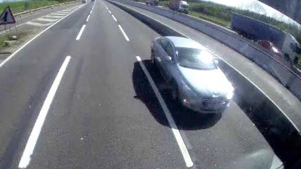 Man drove wrong way in M1 outside lane near Milton Keynes