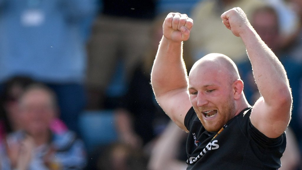 Exeter defeat Northampton to reach fourth successive Premiership final