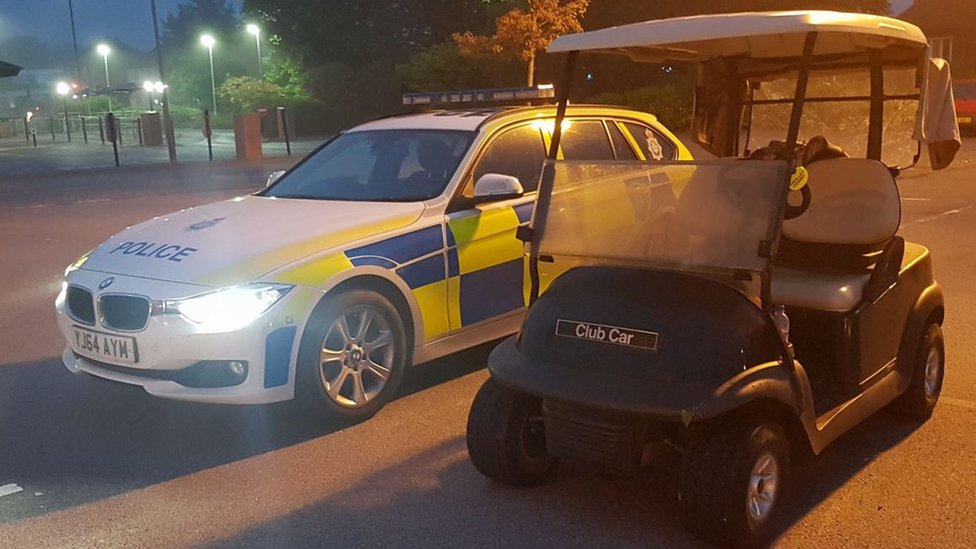 Drink drive McDonald's golf buggy teen banned for 12 months