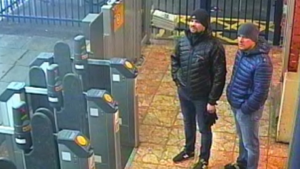 CCTV from Salisbury train station on 3 March 2018 of suspects