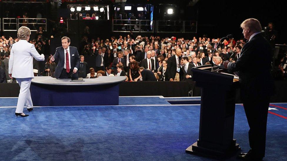 مناظرة عام 2016 بين ترامب وهيلاري كلينتون