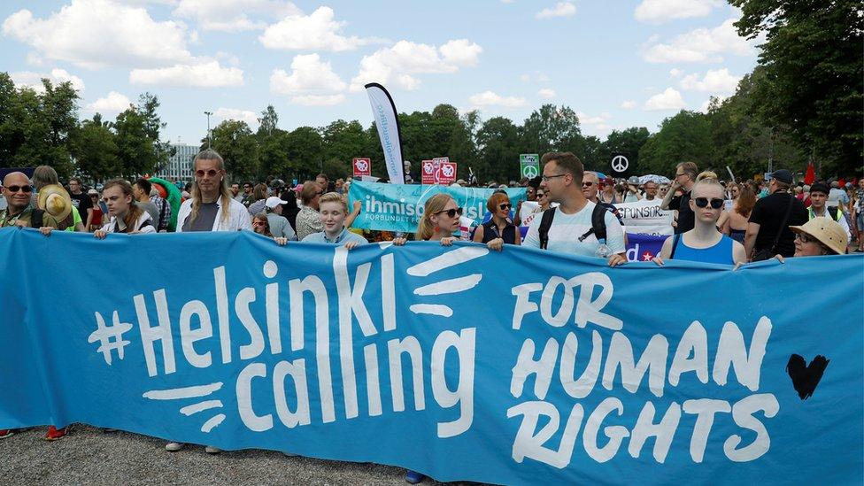 Protesti u Helsinkiju.