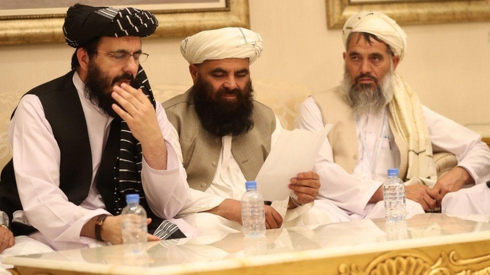 وفد طالبان في محادثات السلام