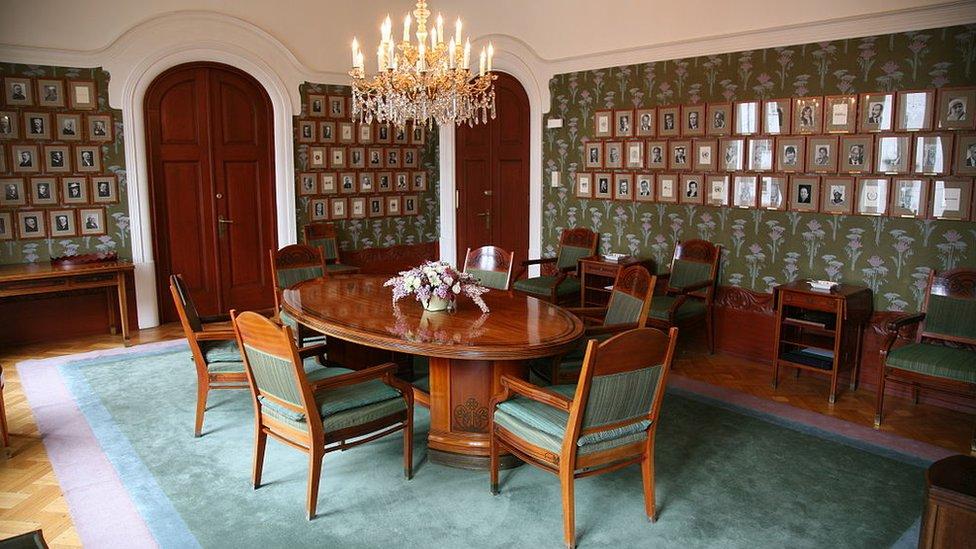 Salón del comité noruego del Nobel.