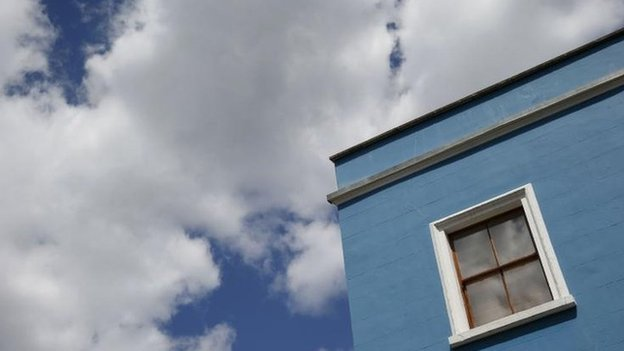 Clouds and house