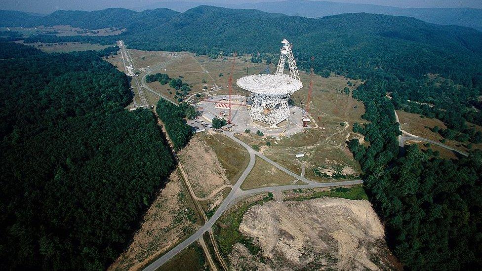 El radiotelescopio Green Bank en West Virginia