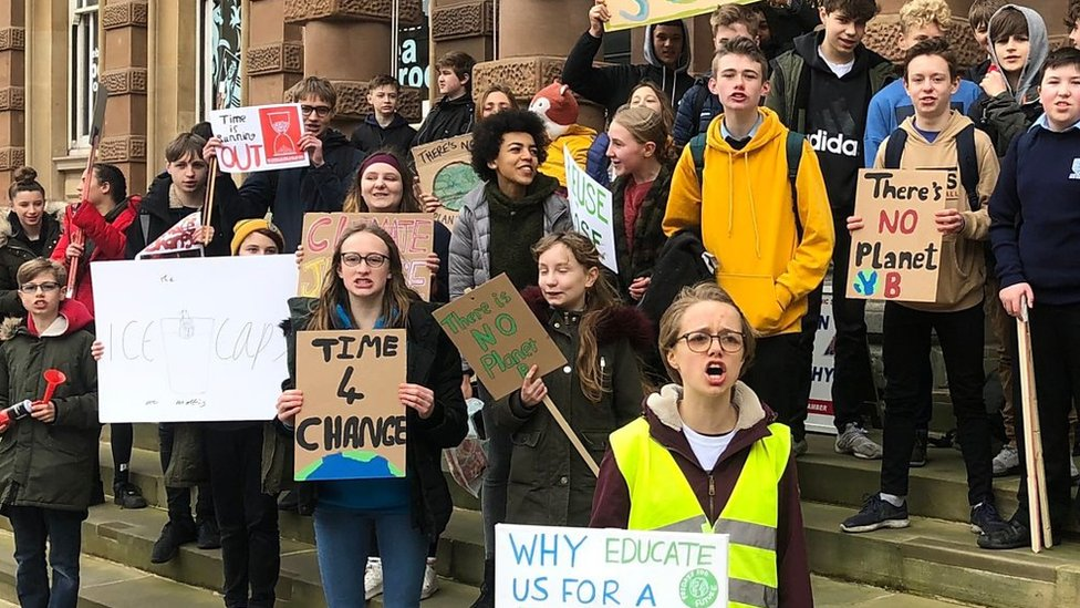 Schools' climate strike: East of England pupils protest