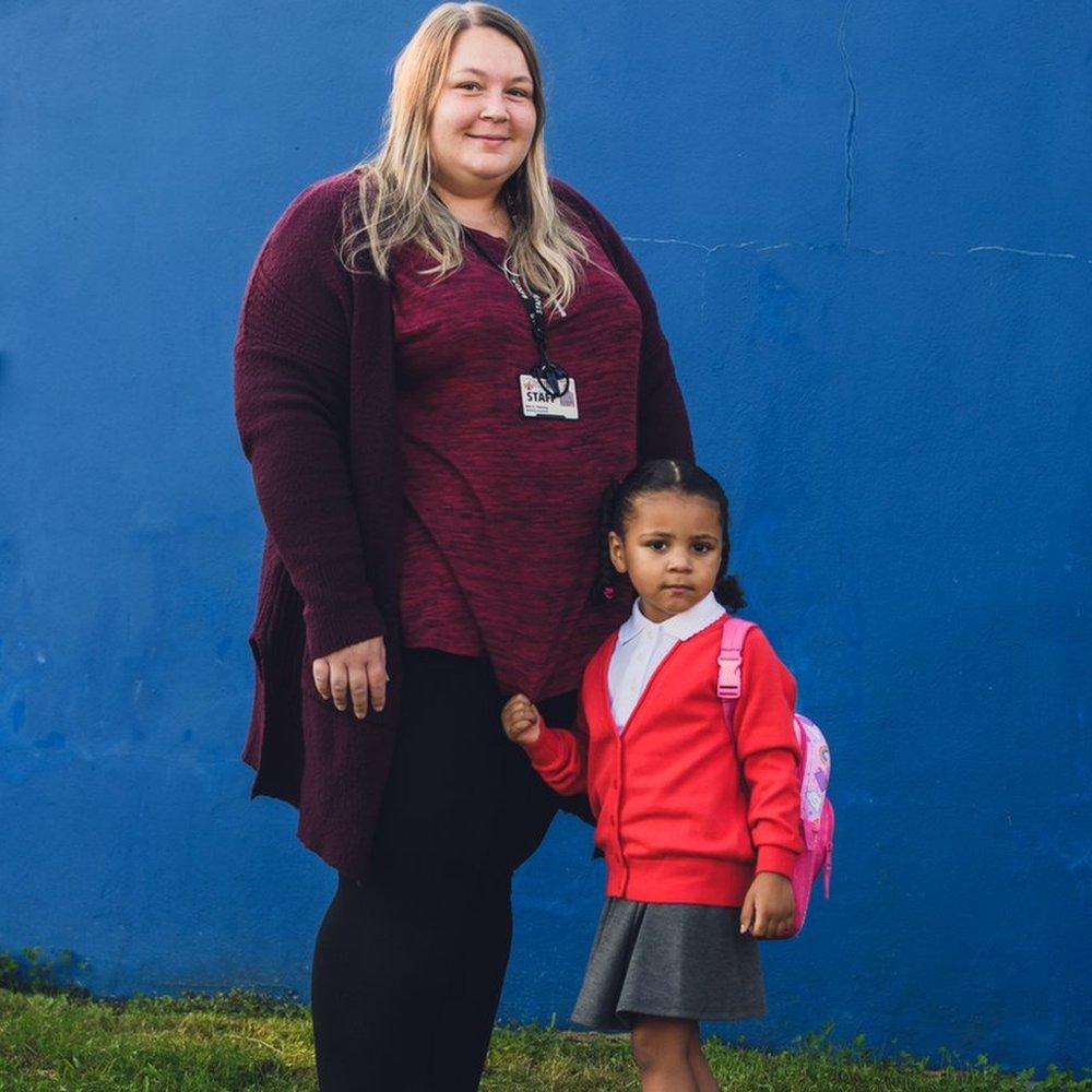 Gemma Twining avec sa fille Nyah