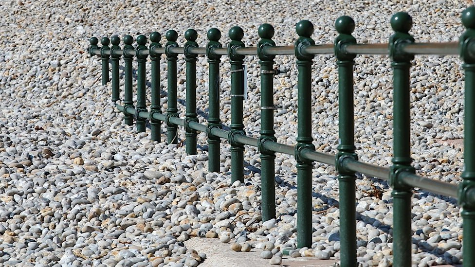 Barrier on a beach