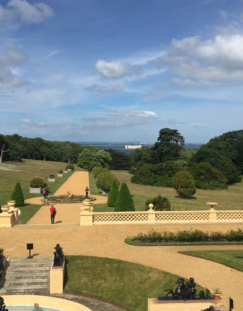 In the grounds of Osborne House