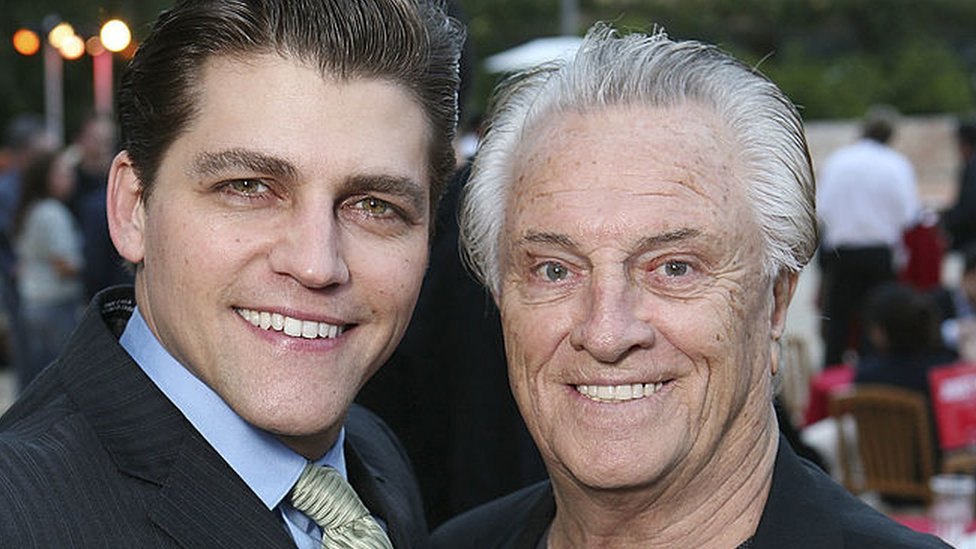 Actor Deven May (who plays Tommy DeVito) with Four Season Musician Tommy DeVito