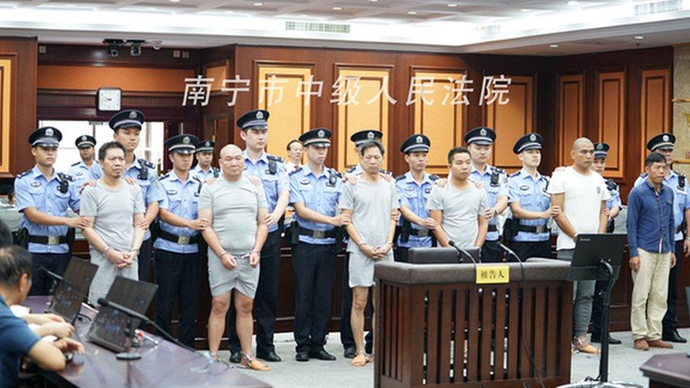 Seis procesados en un tribunal de Nanning