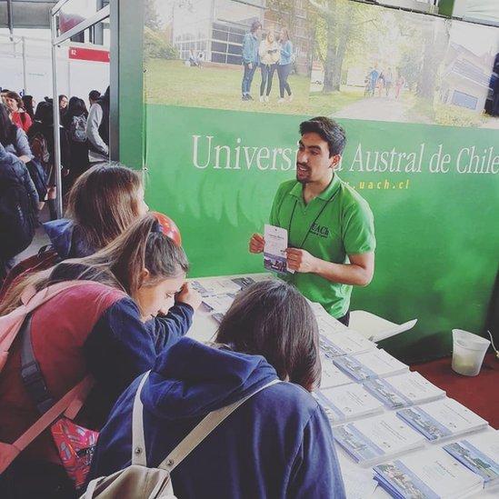 Estudiantes de la Universidad Austral de Chile.
