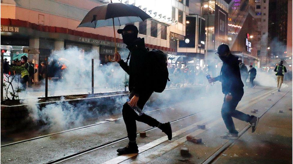 新年香港示威